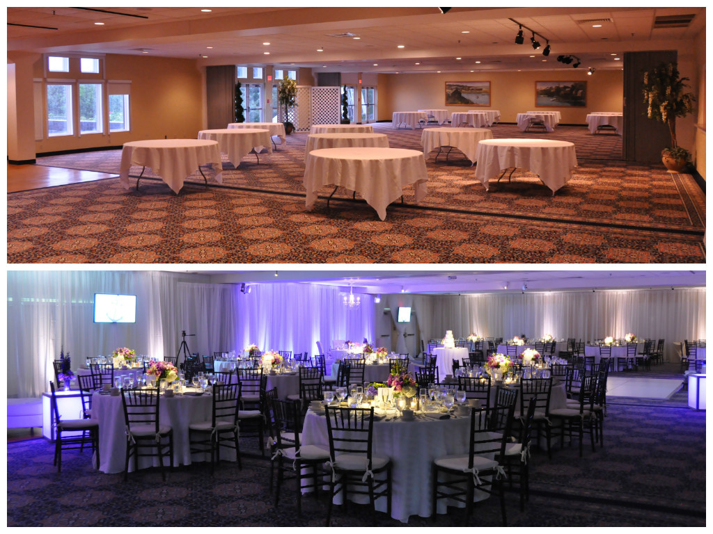 Before and after event decor pinterest
